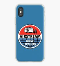 Airstream Travel Trailer Vintage Decal iPhone Case