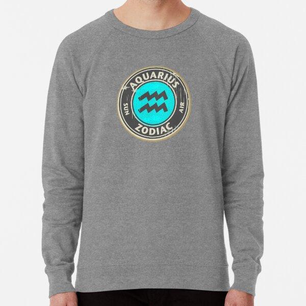 Zodiac sign - Aquarius Lightweight Sweatshirt