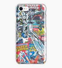 Vintage Comic Silver Surfer iPhone Case/Skin