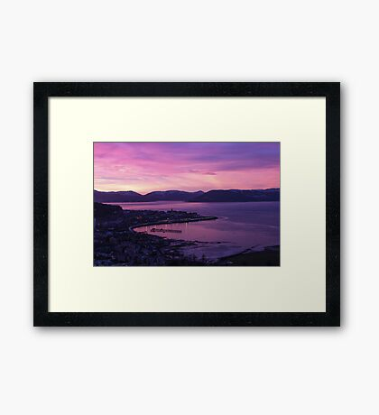 Sunset on Gourock and The River Clyde, Scotland Framed Print