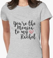 You're the Monica to my Rachel Womens Fitted T-Shirt