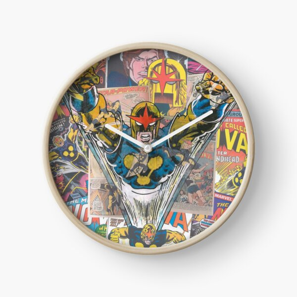 Vintage Comic Nova Clock