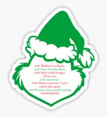 Grinch Schedule Sticker