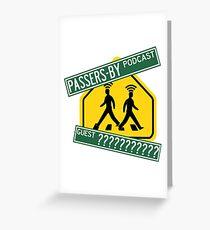 Passanten-Podcast-Merchandise! Grußkarte