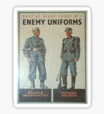 Vintage poster - Enemy Uniforms Sticker