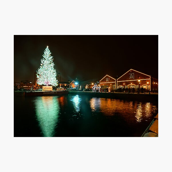 Hakodate Christmas Fantasy and the Red Brick Warehouses (3x2) Photographic Print