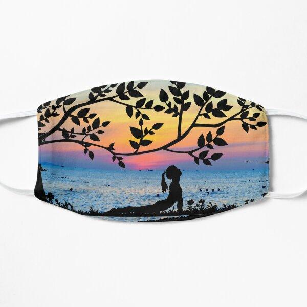 Yoga Under A Tree Flat Mask