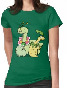 Leafy Dino's Womens Fitted T-Shirt