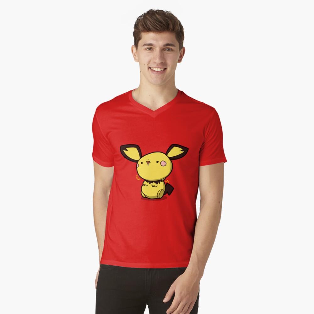 Little 1 volt Mens V-Neck T-Shirt Front
