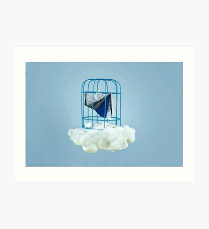Wolke unter Gefangenvogel Kunstdruck