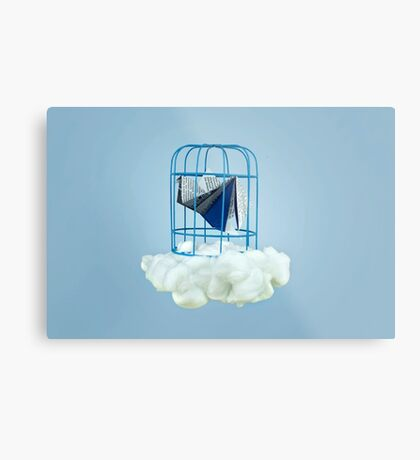 Wolke unter Gefangenvogel Metallbild
