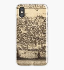 Map Of New York 1672 iPhone Case/Skin