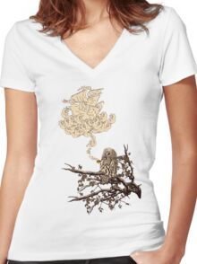 Wow It's a ship ! Women's Fitted V-Neck T-Shirt