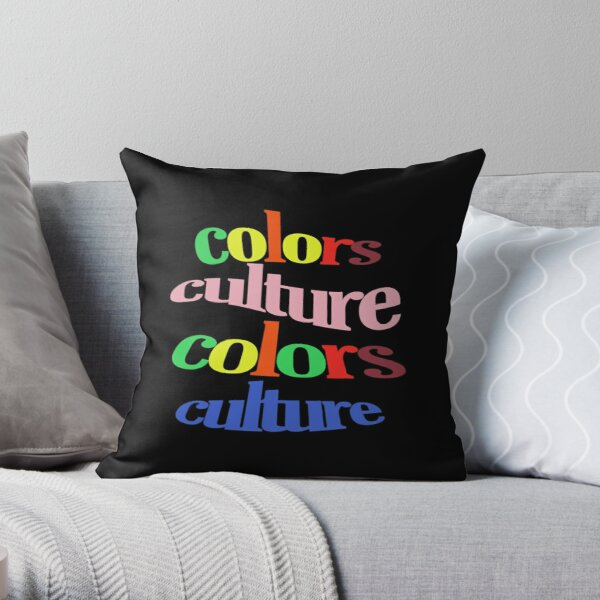 colors culture t-shirt Throw Pillow