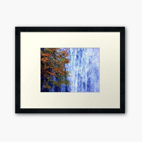 autumn waterfall 1 Framed Art Print