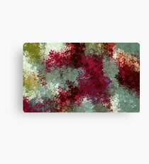 red blue and green flowers abstract background Canvas Print