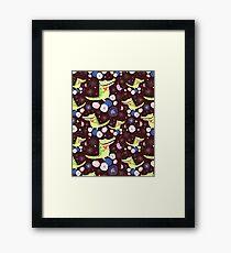 pattern of funny crocodile Framed Print