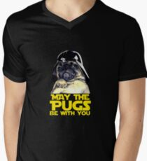 Funny Star Wars May The Pugs Be With You Men's V-Neck T-Shirt