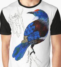 Tui - New Zealand bird Graphic T-Shirt