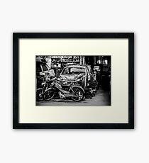 Garage... Framed Print