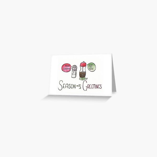 Season-ing's Greetings Greeting Card