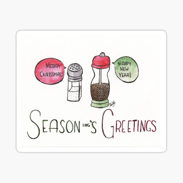 Season-ing's Greetings Sticker