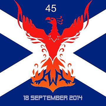 Scottish Independence Referendum 45 Phoenix by DavidBaker