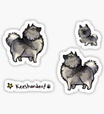 Keeshond - Proud, Purple Sticker