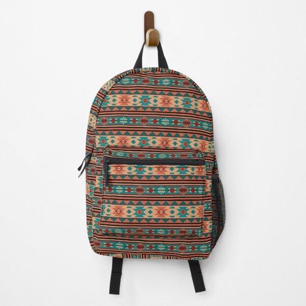 Southwestern Design Turquoise Beige Terracotta Backpack