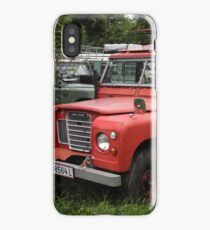 Red Land Rover Series III 109 iPhone Case/Skin