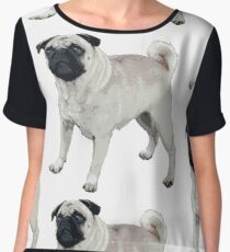 Cute pug  Chiffon Top