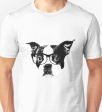 Boston terrier glasses  T-Shirt