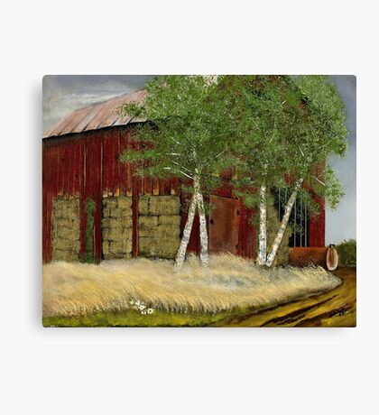 """""""Old Man Walker's Barn""""... prints and products Canvas Print"""