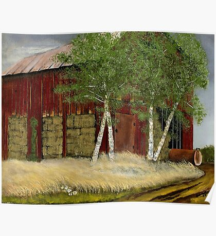 """""""Old Man Walker's Barn""""... prints and products Poster"""