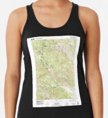 USGS TOPO Map California CA Whispering Pines 102153 1998 24000 geo Racerback Tank Top