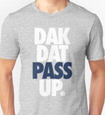 Dak Dat Pass Up. (WHITE/BLUE) T-Shirt