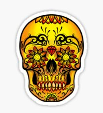 Sugar Skull Warm Colors Ink Envy Edition T-Shirt Sticker
