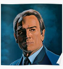 Tommy Lee Jones Painting Poster
