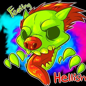 Feeling Hellish Green and pink by Bioticsheep