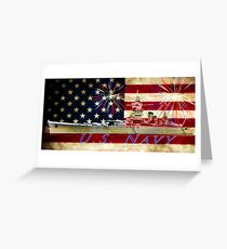 red white blue navy Greeting Card