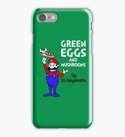 Green Eggs and Mushrooms iPhone Case/Skin