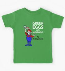 Green Eggs and Mushrooms Kids Clothes