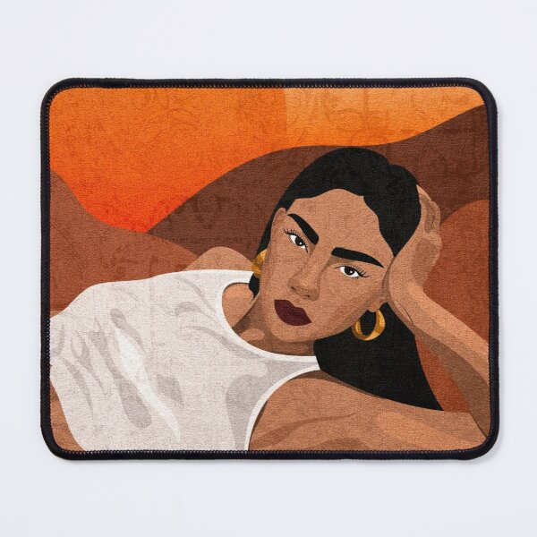 Gaïa - woman on a sunrise  Mouse Pad