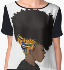 big afro Women's Chiffon Top