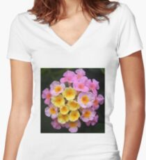 flower close up Women's Fitted V-Neck T-Shirt