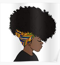 big afro Poster