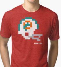 MIA Vintage Helmet - Tecmo Bowl Shirt Tri-blend T-Shirt