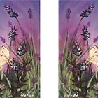 Lavender with the white butterfly 1 by Laura Wilson