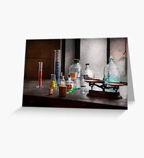 Science - Chemist - Chemistry Equipment  Greeting Card