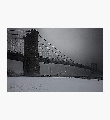 Brooklyn Bridge Blizzard Photographic Print